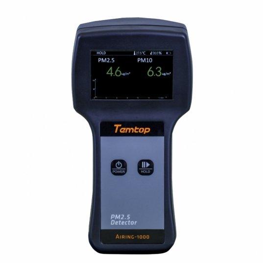 Detector de qualidade de ar (PM2,5 / PM10 / Temperatura / Umidade) Mod. AIRING-1000 Elitech Brasil