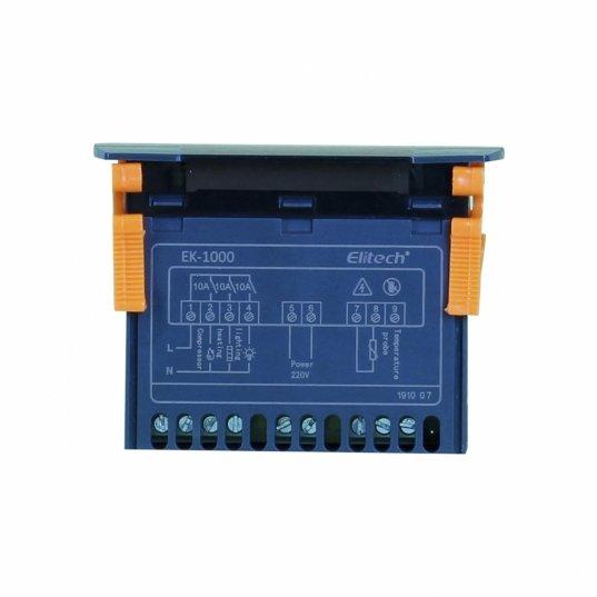 Controlador digital de temperatura para refrigeração e aquecimento Cinza 220v Mod. EK-1000 Elitech Brasil