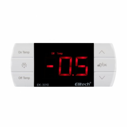 Controlador digital de temperatura para resfriados - branco Mod. EK-3010  Elitech Brasil