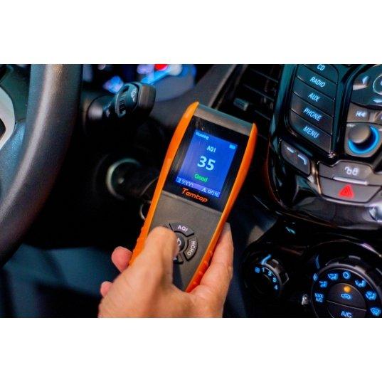 Detector de qualidade de ar (PM2,5 / PM10 / PARTICULAS / AQI / HCHO / TVOC / TEMPERATURA / UMIDADE) Mod. LKC-1000S+ Elitech Brasil