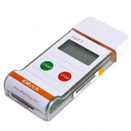 Datalogger temperatura descartável modelo LogEt6 Elitech Brasil Deitado