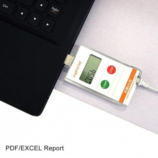 Datalogger Loget8 THE Com sensor Frontal Conectado