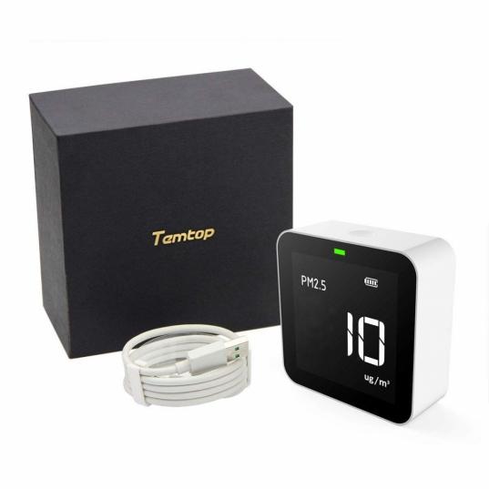 Detector de qualidade de ar (HCHO / PM2,5 / TVOC / AQI) Mod. M10 Elitech Brasil embalagens