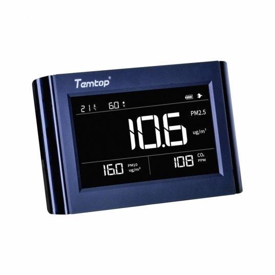 Detector de qualidade de ar (PM2,5 / PM10 / CO2 / Temperatura / Umidade) Mod. P1000 Elitech Brasil