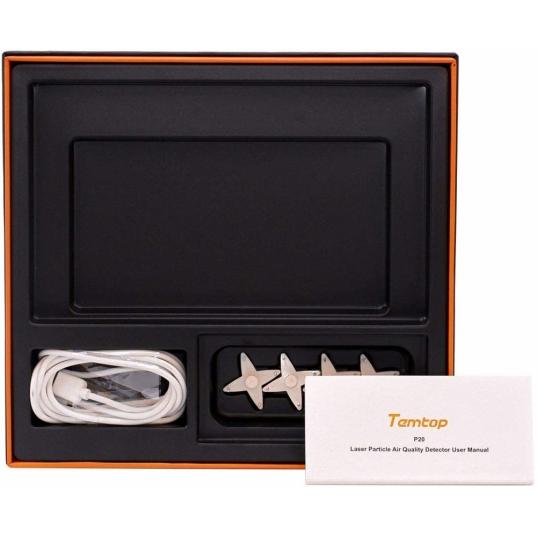 Detector de qualidade do ar Temtop P20 doméstico PM2.5 Embalagem