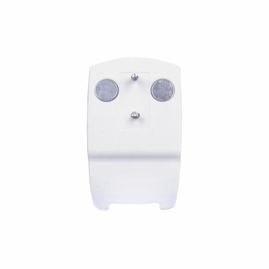 Suporte plástico branco, magnético para fixação, para uso exclusivo com os dataloggers modelos RC-4 e RC-4HC Elitech (OBS: Datalogger não incluso)