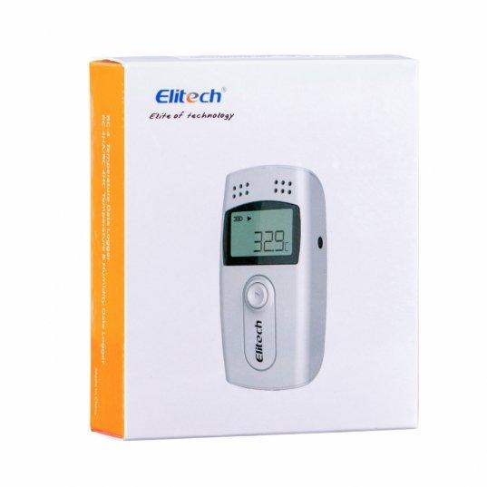 Datalogger de temperatura e umidade (-40 a 85°C) com sensor externo 16000 leituras conexão cabo USB Mod. RC-4HC Elitech Brasil