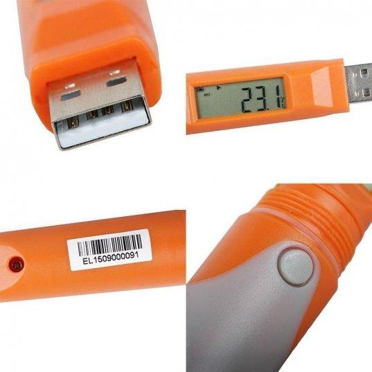 Datalogger Temperatura estilo caneta (-30+70°C) 32.000 leituras Frontal