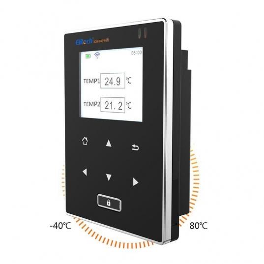 Datalogger de temperatura (2 sensores de temperatura) -40 A 80°C. Sem fio, conexão Wifi 20.000 leituras Mod. RCW-600wifi Elitech Brasil com Medição de temperatura