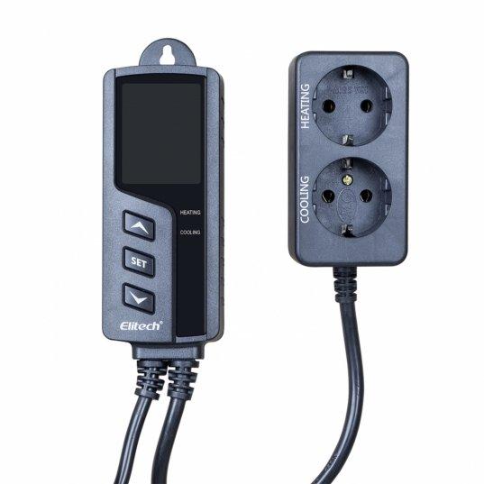 Controlador de temperatura refrigeração e aquecimento 220v 1 sensor 2mt Mod. STC-1000Pro Elitech Brasil