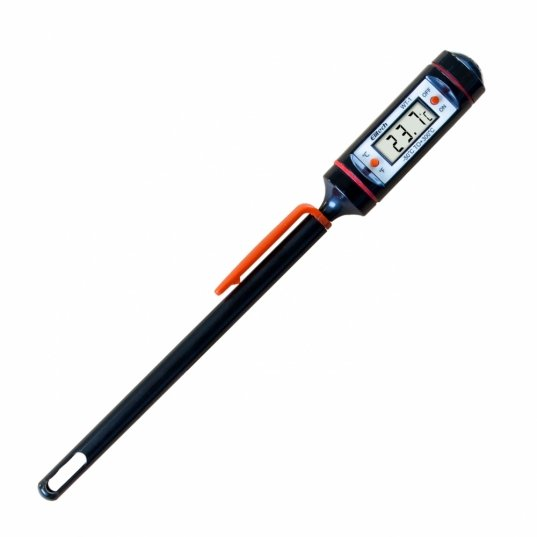 Termômetro digital portátil tipo espeto  de aço inox a prova d´agua, tela LCD (-50 a 300°C) Mod. WT-1B Elitech Brasil